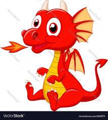 cute baby dragon cartoon royalty free vector image
