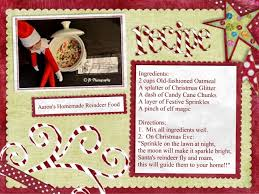 on shelf reindeer on the shelf reindeer food on the shelf recipe for