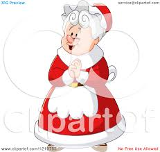 royalty free rf clipart of mrs claus illustrations vector