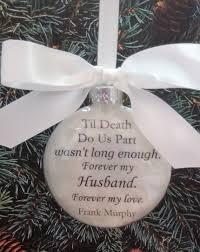 husband memorial ornament til do us part