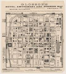 Map Of The Loop Chicago by Glossop U0027s Hotel Business And Amusement Map Frank Glossop 1884
