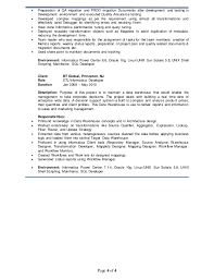Sample Etl Testing Resume by 14 Sample Etl Testing Resume Data Warehousing Tester Resume