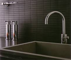 Modern Kitchen Backsplash Tile Classy Black Modern Kitchen Tile Backsplash With Rectangular Tiles