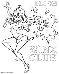 winx bloom coloring pages coloring pages to download and print