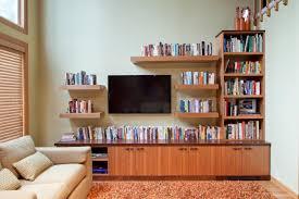 home design floating shelves ideas around tv wainscoting