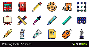 painting tools 50 free icons svg eps psd png files