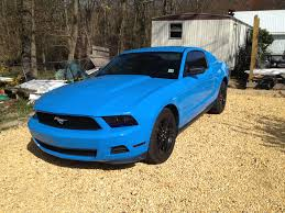 sky blue mustang call any and all grabber blue mustangs mustang evolution