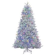 7 5 pre lit led artificial tree silver parkview pine