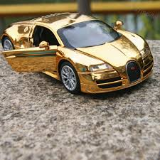 golden bugatti bugatti veyron 1 32 alloy diecast model cars toys gifts golden
