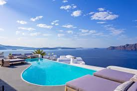 luxury stays in santorini helicopter for you