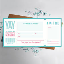 music ticket concert gift by rodocreative on etsy are you taking