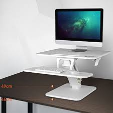 small electric standing desk thingyclub small sit stand gas height adjustable standing desk