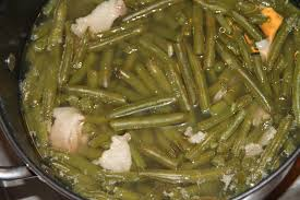 deep south dish old fashioned slow stewed southern green beans