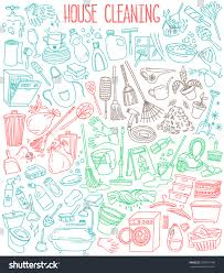 Home Design Doodle Book by House Home Cleaning Themed Doodle Set Stock Vector 350707148