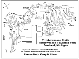 Frankenmuth Michigan Map by Tittabawassee Trails Professional Disc Golf Association