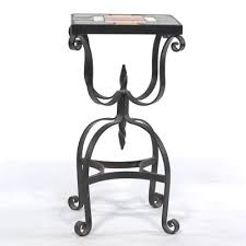 Wrought Iron Accent Table A Vintage Wrought Iron Tile Top Accent Table 10 24 13 Sold 247 25
