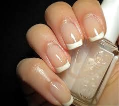 simple french manicure something polished