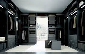 bedroom luxury walk in closet ideas with black wood closet and