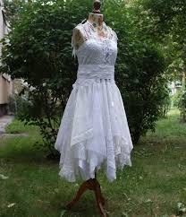 Shabby Chic Clothing For Women by Upcycled Wedding Dress Fairy Tattered Romantic Dress Upcycled