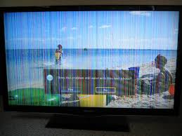 samsung lcd tv colored vertical lines issue resolved loose