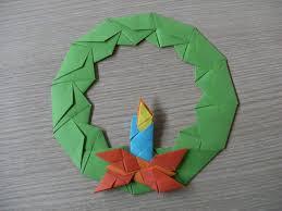 origami advent wreath with candle wieniec adwentowy ze świecą