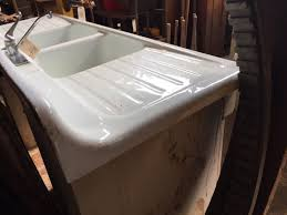 vintage cast iron sink drainboard cast iron farmhouse sink with the double drainboards sink ideas