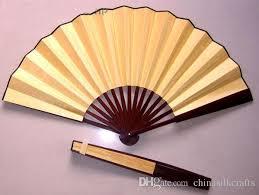 silk fans 2018 blank personalized silk fans bamboo folding fan