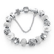 star bracelet charm images Silver plated handmade charm bracelets for women owl star charm jpg