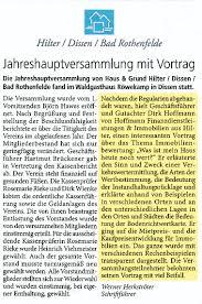 Volksbank Bad Rothenfelde Presse Hoffmann Finanzdienstleistungen U0026 Immobilien Gmbh U0026 Co