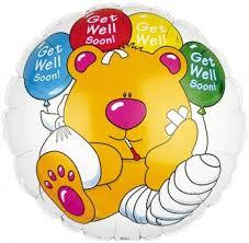 get well soon baloons get well soon teddy balloon earth flowers