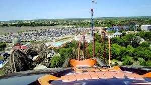 Great America Six Flags Rides Raging Bull Front Seat On Ride Hd Pov Six Flags Great America