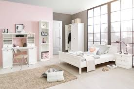 Schlafzimmer Set 140x200 3 Tlg Schlafzimmer In Weiß Im Landhausstil Kleiderschrank Mit