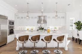 traditional kitchen with kitchen island u0026 glass panel in los