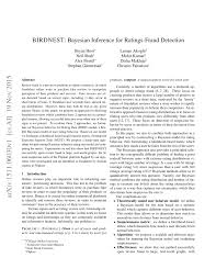 birdnest bayesian inference ratings fraud detection pdf
