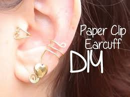 how to make your own clip on earrings diy paperclip ear cuffs paper clip piercings and