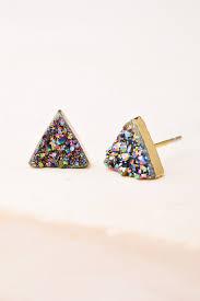druzy stud earrings kyra multicolored druzy stud earrings starfish project
