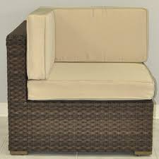 Patio Sectional Atlantic Bellagio 5 Person Resin Wicker Patio Sectional Set