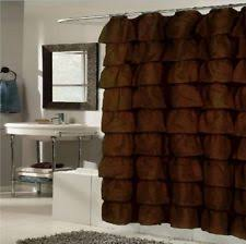 Chocolate Brown Shower Curtain Brown Shower Curtains Ebay
