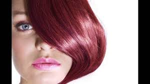 dark burgundy or cherry red hair color suits to which type of