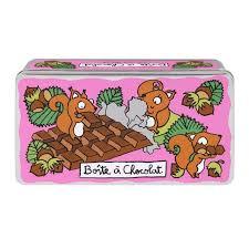 boite metal cuisine boîte à chocolat ecureuil derrière la porte dlp