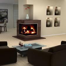 furniture modern interior design showcasing a corner fireplace