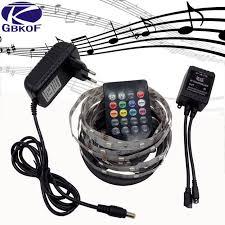 music led strip lights 5m flexible music rgb led strip light 5050 30led m light led tape