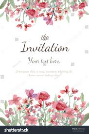 Invitation Card For The Wedding Flower Wedding Invitation Card Save Date Stock Vector 256788238