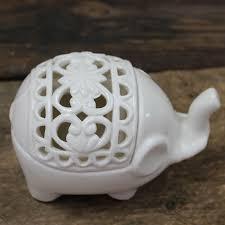 buy creative hollow ceramic elephant crafts aromatherapy candle