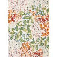 Orange Outdoor Rug by Orange Floral Area Rug Little Crown Interiors
