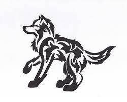 tribal wolf design by peacewolfcreations on deviantart