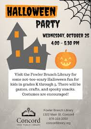 Halloween Crafts For 6th Graders by Eventkeeper At Concord Free Public Library Concord Ma Plymouth