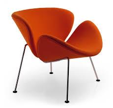 fauteuil design tissu orange slice fauteuil design 4 pieds tissu orange