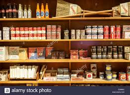 dry goods on shelves general store destination colorado exhibit