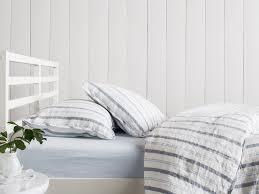 White Stripe Duvet Cover Duvet Cover Set In Chambray Stripe Linen Parachute